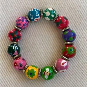 Angela Moore hand painted bracelet